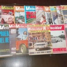 Coches: LOTE DE 18 REVISTAS DE AUTOMOVILISMO VELOCIDAD DE 1970.. Lote 259327010