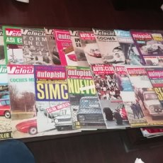 Coches: LOTE DE 19 REVISTAS DE AUTOMOVILISMO VELOCIDAD, AUTOPISTA Y AUTO CLUB.. Lote 259524265