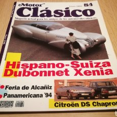 Coches: MOTOR CLÁSICO N ° 84 ENERO 1995 - HISPANO - SUIZA BUBONNET XENIA. Lote 260578440
