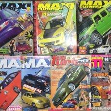 Coches: LOTE 7 REVISTAS MAXI TUNING 87 89 91 TOP COCHES GTI AUTO KARTING ENCUENTROS AUTOMOVILES. Lote 260707750