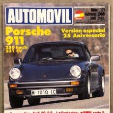 Coches: AUTOMÓVIL N° 121 (1988). PORSCHE 911 (25 ANIVERSARIO), AUDI 90 2.0 VS MG MONTEGO TURBO, BMW SERIE 5. Lote 260730795
