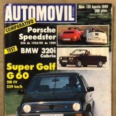 Carros: AUTOMÓVIL N° 139 (1989). PORSCHE SPEEDSTER, BMW 320I, VW GOLF G 60, MAZDA MX-5 MIATA,.... Lote 260875050