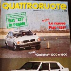 Coches: 1978 REVISTA QUATTRORUOTE Nº 266 - FIAT 127 - FIAT 131 - ALFA ROMEO GIULIETTA 1300 Y 1600. Lote 262293760