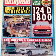 Voitures: REVISTA AUTOPISTA, NÚMERO 937. FEBRERO 1977. Lote 262464280