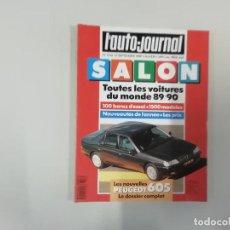 Coches: REVISTA AUTOMÓVIL - L'AUTO-JOURNAL - 1989 - SALON 89/90 - PEUGEOT 605. Lote 262859495