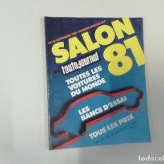Coches: REVISTA AUTOMÓVIL - L'AUTO-JOURNAL - Nº 14/15 1981 - SALON 81 : TODOS LOS COCHES DEL MUNDO 1981. Lote 262860920