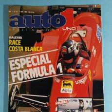 Carros: REVISTA AUTO UNO 1 SPORT MAGAZINE Nº 10 ABRIL 1986: ESPECIAL FORMULA 1, PRUEBA FORD ESCORT RS TURBO. Lote 263012890