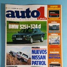 Auto: REVISTA AUTO UNO 1 SPORT MAGAZINE Nº4 DIC 1985: BMW 325I 324D, NISSAN PATROL, FORD SIERRA COSWORTH. Lote 263013705