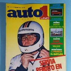 Carros: REVISTA AUTO UNO 1 SPORT MAGAZINE Nº 3 NOVIEMBRE 1985: BMW 635 CSI GR.A. Lote 263014015