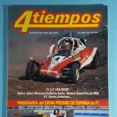 Carros: REVISTA 4 TIEMPOS Nº MAYO 1980, FORMULA 1 GP USA OESTE Y PROGRAMA GRAN PREMIO DE ESPAÑA. Lote 263015275