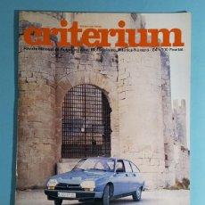 Carros: REVISTA CRITERIUM FEDERACION SPORT Nº 84, CITROEN GSA, INFORME BMW 1980.... Lote 263022340