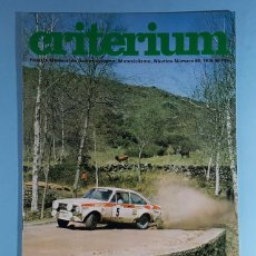 Carros: REVISTA CRITERIUM FEDERACION SPORT Nº 69 1978, RALLYES. Lote 263057105