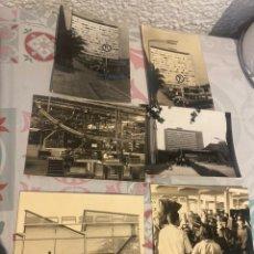 Coches: LOTE DE 6 FOTOGRAFÍAS ORIGINALES FÁBRICAS MERCEDES BENZ Y PORCHE STUTTGART AÑOS 50 . VER LAS FOTOS. Lote 264992824