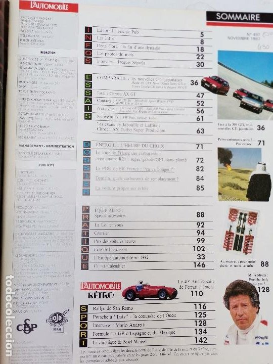 Coches: 1987 REVISTA L`AUTOMOBILE - LOS GTI JAPONESES CITROEN AX GT - Foto 2 - 268717444