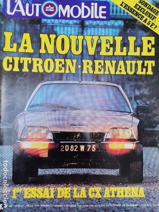 1979 REVISTA L`AUTOMOBILE - CITROEN CX ATHENA -MAZDA RX7 - ALFA ROMEO GIULIETTA 1.8 - CITROEN MEHARI (Coches y Motocicletas Antiguas y Clásicas - Revistas de Coches)