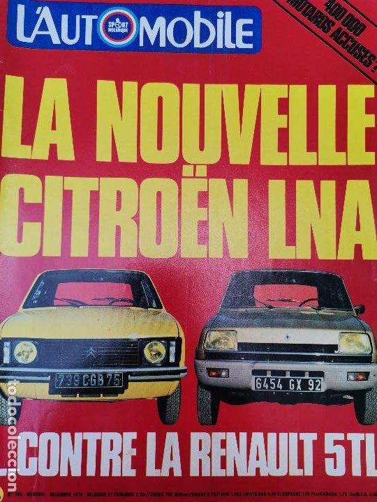 1978 REVISTA L`AUTOMOBILE - CITROEN LNA - RENAULT 5 TL - RALLY TOUR DE CORSE (Coches y Motocicletas Antiguas y Clásicas - Revistas de Coches)