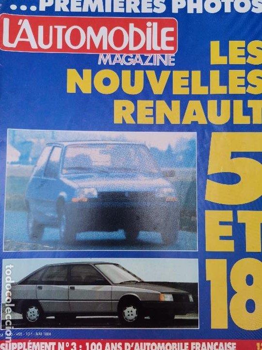 1984 REVISTA L`AUTOMOBILE - CITROEN LNA - RENAULT 5 Y 18 -BMW ALPINA V6 - MASERATI BITURBO (Coches y Motocicletas Antiguas y Clásicas - Revistas de Coches)