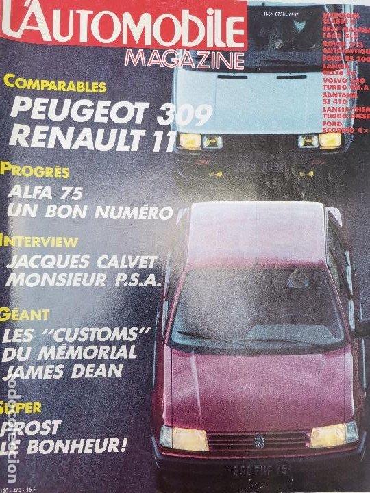 1985 REVISTA L`AUTOMOBILE - ALFA 75 - RENAULT 11 - LANCIA DELTA S4 - VOLVO 240 TURBO GRA - SEAT (Coches y Motocicletas Antiguas y Clásicas - Revistas de Coches)