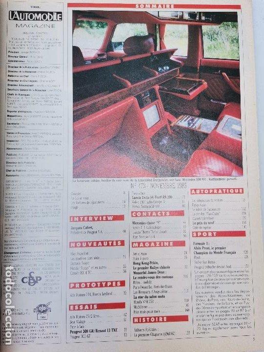Coches: 1985 REVISTA L`AUTOMOBILE - ALFA 75 - RENAULT 11 - LANCIA DELTA S4 - VOLVO 240 TURBO GRA - SEAT - Foto 2 - 268718204