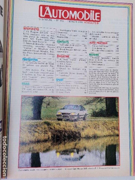 Coches: 1984 REVISTA L`AUTOMOBILE - VW GOLF VS RENAULT 11 - PARIAS DAKAR - OPEL MONZA GSE - Foto 2 - 268718349