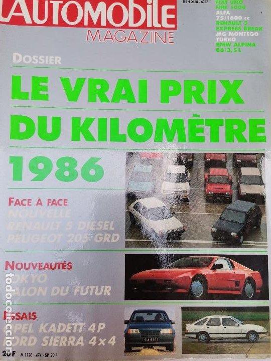 1985 REVISTA L`AUTOMOBILE - RENAULT 5 DIESEL - PEUGEOT 205 GRD - OPEL KADETT - FORD SIERRA 4X4 (Coches y Motocicletas Antiguas y Clásicas - Revistas de Coches)