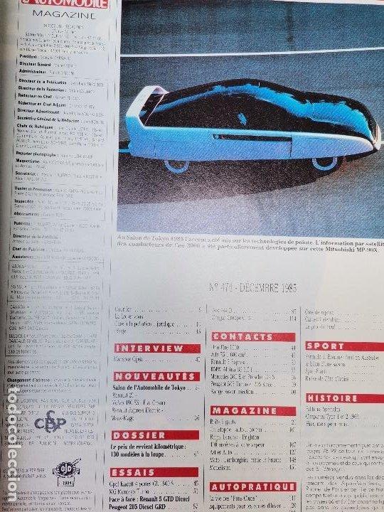 Coches: 1985 REVISTA L`AUTOMOBILE - RENAULT 5 DIESEL - PEUGEOT 205 GRD - OPEL KADETT - FORD SIERRA 4X4 - Foto 2 - 268718484