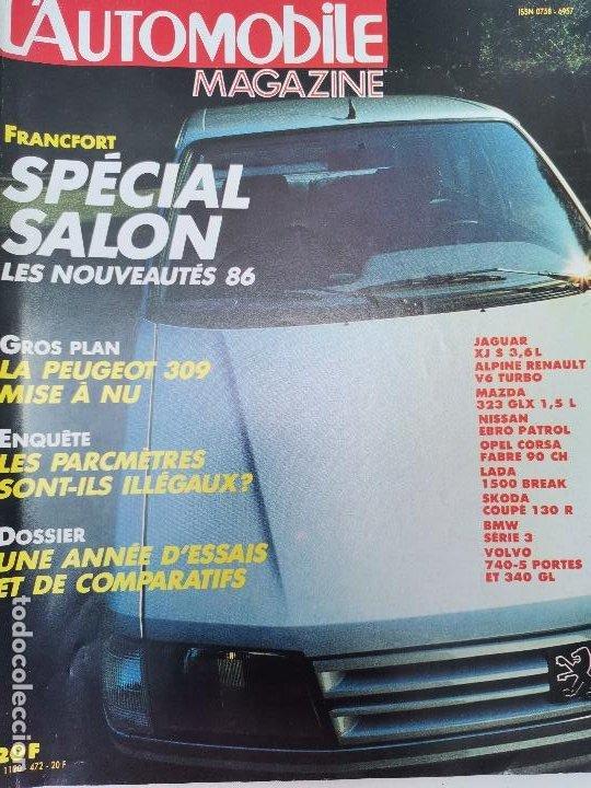 1985 REVISTA L`AUTOMOBILE - JAGUAR XJ S 3,6 L - ALPINE REANULT V6 TURBO - NISSAN PATROL - LADA 1500 (Coches y Motocicletas Antiguas y Clásicas - Revistas de Coches)