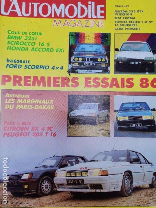 1986 REVISTA L`AUTOMOBILE - CITROEN BX 4 TC VS PEUGEOT 205 T 16 - FORD SCORPIO 4X4 - HONDA ACCORD (Coches y Motocicletas Antiguas y Clásicas - Revistas de Coches)