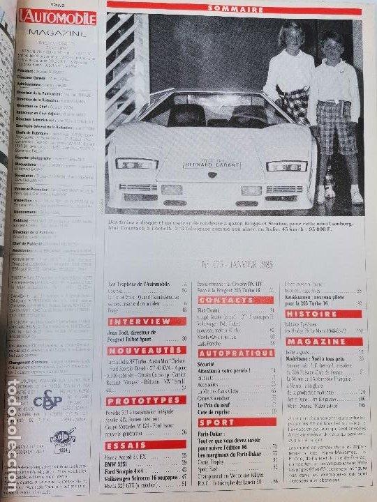 Coches: 1986 REVISTA L`AUTOMOBILE - CITROEN BX 4 TC VS PEUGEOT 205 T 16 - FORD SCORPIO 4X4 - HONDA ACCORD - Foto 2 - 268718829