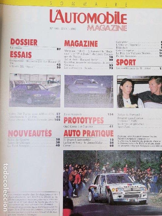 Coches: 1985 REVISTA L`AUTOMOBILE - LANCIA Y10 - CITROEN BX SPORT - RENAULT 25 V6 VS MERCEDES 230 E - Foto 2 - 268719009