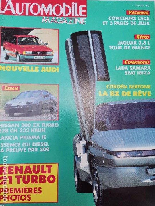 1986 REVISTA L`AUTOMOBILE - NISSAN 300 ZX TURBO - RENAULT 21 TURBO - CITROEN BERTONE (Coches y Motocicletas Antiguas y Clásicas - Revistas de Coches)