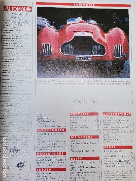 Coches: 1986 REVISTA L`AUTOMOBILE - NISSAN 300 ZX TURBO - RENAULT 21 TURBO - CITROEN BERTONE - Foto 2 - 268719124