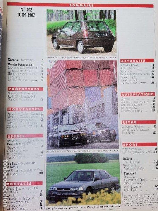 Coches: 1987 REVISTA L`AUTOMOBILE - HONDA LEGEND - MERCEDES 300 E VS BMW 735 - AUDI 300 - PEUGEOT 405 - Foto 2 - 268719309