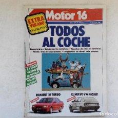 Coches: MOTOR 16 Nº 192 AÑO 1987- UMM JAVATO - SUZUKI SJ 410 Y SJ 413 - LADA NIVA - RENAULT 21 TURBO. Lote 268735394