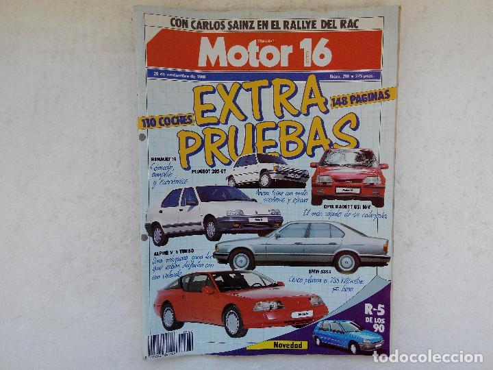 MOTOR 16 Nº 266 AÑO 1988- EXTRA PRUEBAS (Coches y Motocicletas Antiguas y Clásicas - Revistas de Coches)