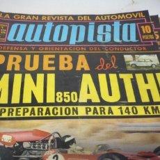 Coches: AUTOPISTA AÑO 1970 Nº 579. Lote 268878784