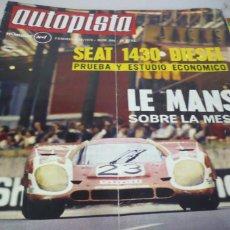 Coches: AUTOPISTA AÑO 1970 Nº 594. Lote 268879009