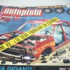 Coches: AUTOPISTA AÑO 1970 Nº 593. Lote 268879094