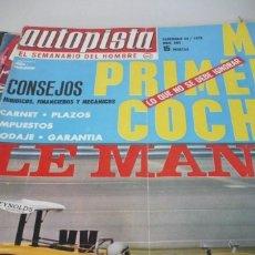 Coches: AUTOPISTA AÑO 1970 Nº 592. Lote 268879159