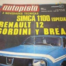 Coches: AUTOPISTA AÑO 1970 Nº 596. Lote 268879204