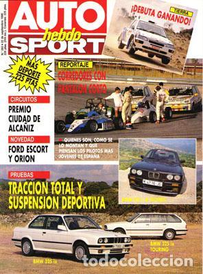 AUTO HEBDO Nº 0283 (22-09-90) (Coches y Motocicletas Antiguas y Clásicas - Revistas de Coches)