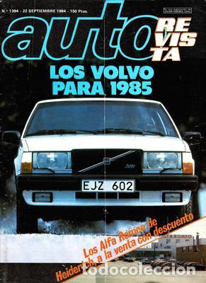 AUTO REVISTA Nº 1394 (22-09-84) (Coches y Motocicletas Antiguas y Clásicas - Revistas de Coches)