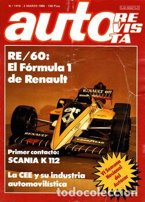 AUTO REVISTA Nº 1416 (2-03-85) (Coches y Motocicletas Antiguas y Clásicas - Revistas de Coches)