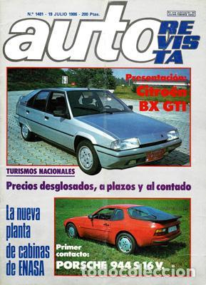 AUTO REVISTA Nº 1481 (19-07-86) (Coches y Motocicletas Antiguas y Clásicas - Revistas de Coches)