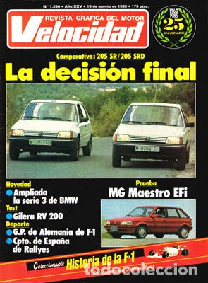 VELOCIDAD Nº 1246 (10-08-85) (Coches y Motocicletas Antiguas y Clásicas - Revistas de Coches)