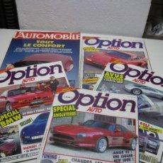 Coches: LOTE DE 5 REVISTAS OPTION AUTO. EN FRANCES. AÑOS 1990 Y 1992.. Lote 269418083