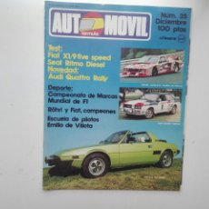 Coches: REVISTA AUTOMOVIL FORMULA / Nº 35 / DICIEMBRE 1980 / SEAT RITMO DIESEL. Lote 269815648