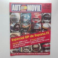 Coches: REVISTA AUTOMOVIL FORMULA / Nº 29 / JUNIO 1980 / ESPECIAL GP DE ESPAÑA F1. Lote 269816638