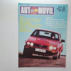 Coches: REVISTA AUTOMOVIL FORMULA / Nº 40 / MAYO 1981 / TEST ALFA ROMEO GTV 6 2.5. Lote 269817163