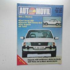 Coches: REVISTA AUTOMOVIL FORMULA / Nº 42 / JULIO 1981 / TEST FORD ESCORT XR3. Lote 269817758